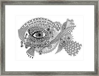 Looking At Tangles Framed Print by Lissi Lyngsoe