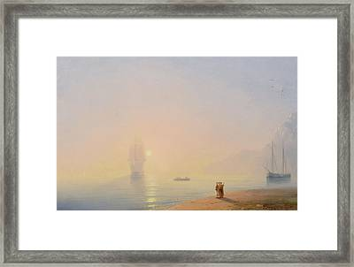 Looking At The Black Sea Framed Print