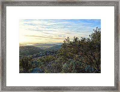 Looking At The Horizon - Santa Rosa Hills Framed Print by Glenn McCarthy