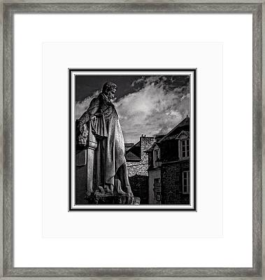 Looking At The Houses Framed Print