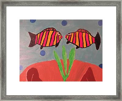 Looking At You Framed Print by Ronald Weatherford