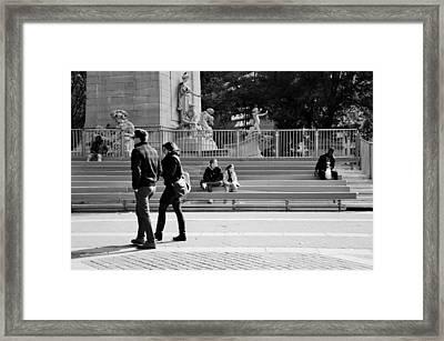 Looking Away Framed Print