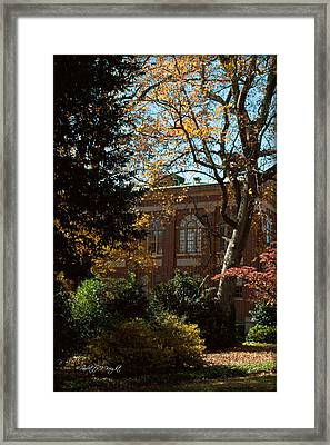 Looking Back At The Martin Chemistry Lab - Davidson College Framed Print by Paulette B Wright