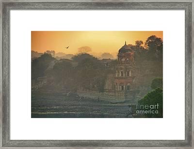 Looking Back From The Taj Mahal Framed Print