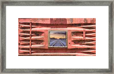Looking Back Panorama Framed Print