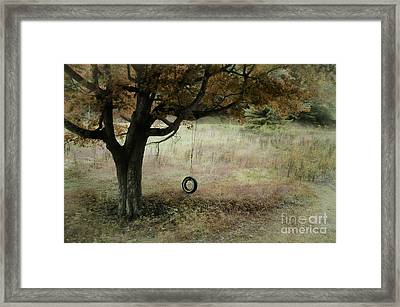 Looking Back To Simple Times Framed Print by Brenda Bostic