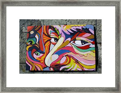 Looking Framed Print by David King