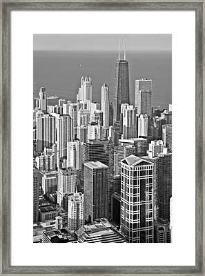 Looking Down At Beautiful Chicago Framed Print