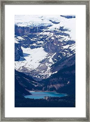 Looking Down At Lake Louise #2 Framed Print