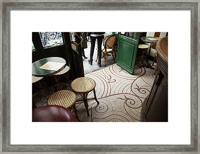 Looking Down At The Floor Of A Parisian Framed Print