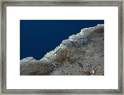 Looking Down At The Shore Edge Framed Print by Rob Huntley