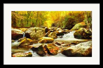 Rivers In The Fall Mixed Media Framed Prints