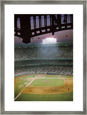 Brillant Yankee Stadium Framed Print by Retro Images Archive