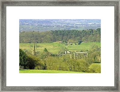 Looking Down On Cotton From Ribdon Framed Print