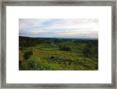 Looking Down On Devils Den Framed Print by William Fox
