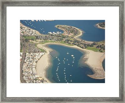 Looking Down On San Diego Framed Print