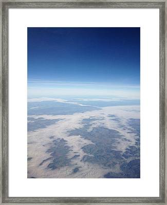 Looking Down On The Earth Framed Print by Daniel Precht