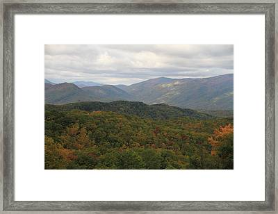 Looking Down On The Majestic Smokies Framed Print