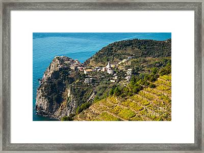 Looking Down Onto Corniglia Framed Print