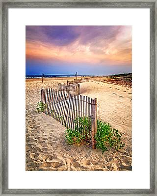 Looking Down The Beach Framed Print