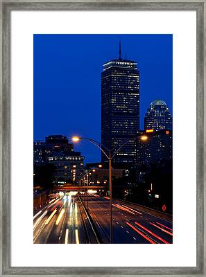 Looking Down The Mass Pike From The Brookline Ave Bridge Framed Print by Toby McGuire