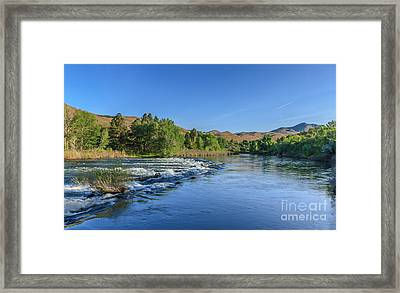 Looking Down The Payette River Framed Print by Robert Bales