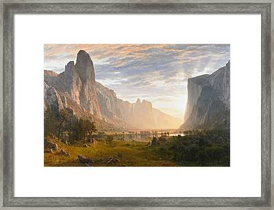 Looking Down Yosemite Valley California Framed Print
