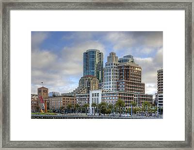 Framed Print featuring the photograph Looking Downtown by Kate Brown