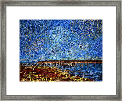 Looking East - St Andrews Wharf 2013 Framed Print