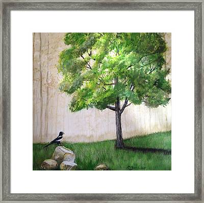 Looking For A Better View Framed Print by Priscilla Greenbaum