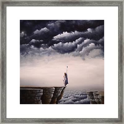 Looking For A Vision Among Thunder Beings Framed Print