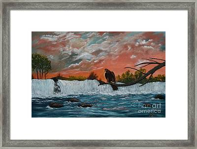 Framed Print featuring the painting Looking For Dinner by Myrna Walsh