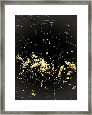 Looking For Gold - Gold Nuggets On Black II Framed Print by Serge Averbukh