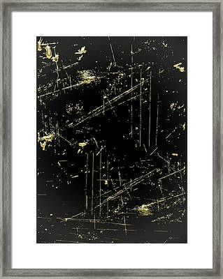 Looking For Gold - Gold Nuggets On Black IIi Framed Print by Serge Averbukh