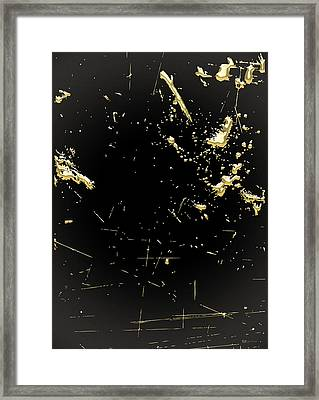 Looking For Gold - Gold Nuggets On Black I Framed Print by Serge Averbukh