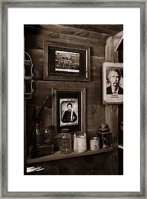 Looking For Jesse James Framed Print