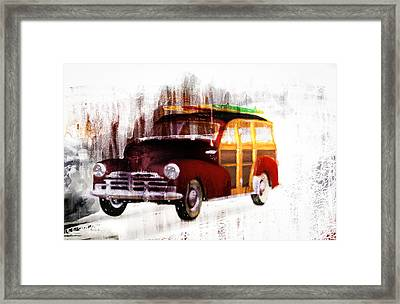 Looking For Surf City Framed Print by Bob Orsillo