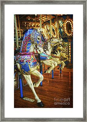 Framed Print featuring the photograph Dancing Horses by Debra Fedchin