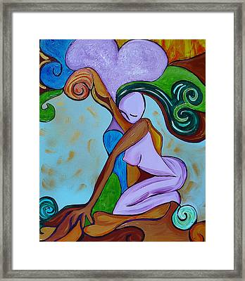 Looking For The Strength Framed Print by Gioia Albano