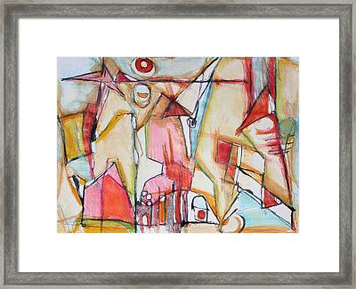 Looking From Within   Tribute To Sri Aurobindo And The Mother Framed Print by Hari Thomas
