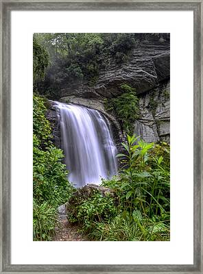 Looking Glass Falls Framed Print by Bob Jackson