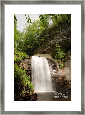 Looking Glass Falls Nc Framed Print by Jt PhotoDesign
