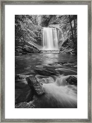 Framed Print featuring the photograph Looking Glass Falls by Photography  By Sai
