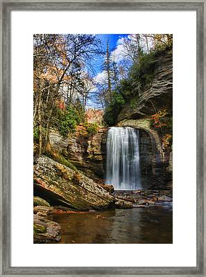 Looking Glass Falls Framed Print