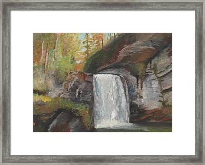 Looking Glass Falls Framed Print by William Killen