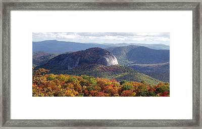 Looking Glass Rock And Fall Folage Framed Print