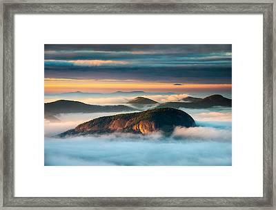 Looking Glass Rock Blue Ridge Parkway Nc Western North Carolina Framed Print