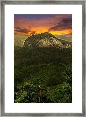 Looking Glass Rock North Carolina  Framed Print