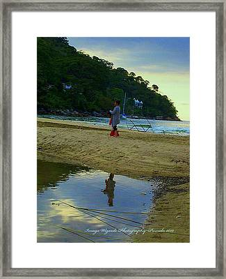 Looking Glass Stroll Framed Print by ARTography by Pamela Smale Williams