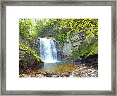 Looking Glass Waterfall In The Spring 2 Framed Print